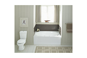 "Tranquility® HG, Series 7605, 60"" x 42"" 6 Jet Oval Whirlpool Bath with Apron - Drain End Pump"