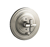 For Town by Michael S Smith Pressure Balance Valve Trim with Diverter, Cross Handle