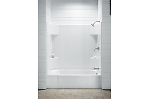 "Accord® AFD 60"" x 30"" Bath with Age in Place Backers - Right-hand Drain"