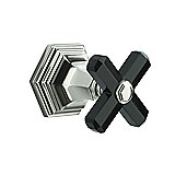 For Town by Michael S Smith 2-Way Diverter Trim, Black Obsidian Cross Handle