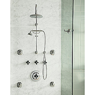 Shown is the Michael S Smith Shower Arm; Showerhead;