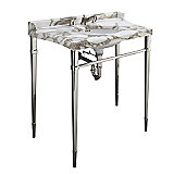 Tuxedo by Barbara Barry Console Table Legs with Towel Bar, Front