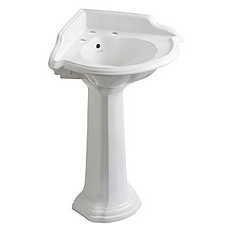Corner Pedestal Sinks For Bathrooms : Kallista: Stafford(R) Corner Pedestal Sink: P72002-00
