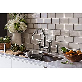 Kallista: One(TM) Deck-Mounted Bridge Kitchen Faucet, Cross ...