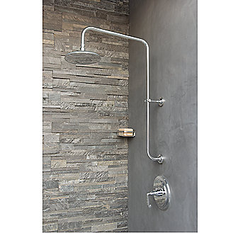 Shown is the Michael S Smith Raindome Arm; Showerhead;