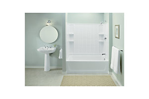 "Ensemble™ 32, Series 7112, 60"" x 54"" Tile Bath/Shower - Back Wall"