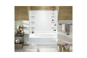 "Ensemble™, Series 7111, 43-1/2"" x 53"" Tile Bath/Shower - Left End Wall"