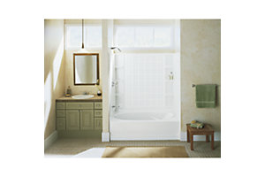 "Ensemble™ 36, Series 7110, 60"" x 53"" Tile Bath/Shower - Back Wall"