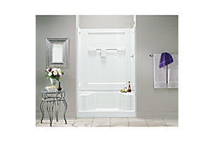 "Advantage™, Series 6203, 35-1/4"" x 56"" Seated Shower - Left End Wall"