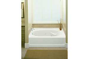 "Ensemble™, Series 7610, 60"" x 36"" 6 Jet Whirlpool Bath - Right-hand Drain"
