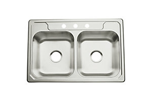 "Middleton® Double-basin Kitchen Sink, 33"" x 22"""