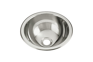 Round Single Basin Self-Rimming/Undermount Entertainment Sink/Lavatory