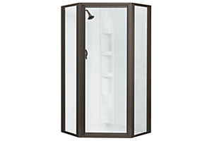 Sterling Plumbing Intrigue Neo Angle Shower Door Shower