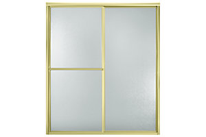 "Deluxe By-pass Shower Door - Height 70"", Max. Opening 56"""