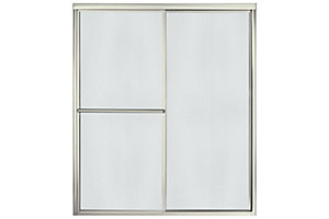 "Deluxe By-pass Shower Door - Height 70"", Max. Opening 59-3/8"""