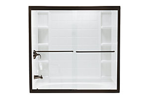 "Finesse™ Frameless By-pass Shower Door - Height 70-1/16"", Max. Opening 57"""