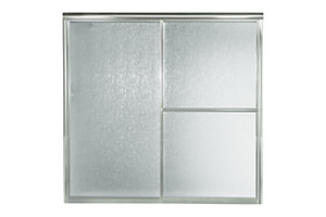 "Deluxe Sliding Bath Door - Height 56-1/4"", Max. Opening 59-3/8"""