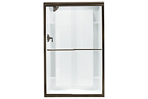 "Finesse™ Frameless By-pass Shower Door - Height 65-1/2"", Max. Opening 45-3/8"""