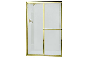"Deluxe By-pass Shower Door - Height 65-1/2"", Max. Opening 48"""