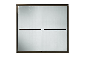 "Finesse™ Frameless Sliding Bath Door - Height 55-1/2"", Max. Opening 57"""