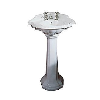 Corner Sink Pedestal : Kallista: Stafford Corner Pedestal Sink: P72002-00