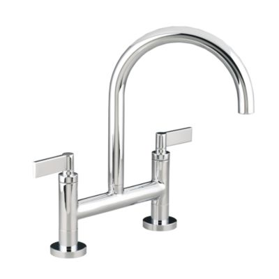 kallista one tm deck mounted bridge kitchen faucet