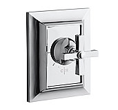 Tuxedo by Barbara Barry Thermostatic Valve Trim, Cross Handle