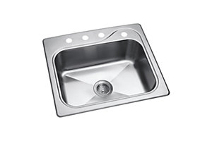 "Southhaven®  Single Basin Sink, 25"" x 22"" x 8"""