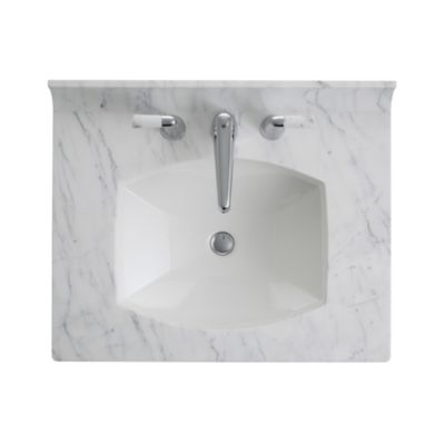 Superieur Shown Is The Barbara Barry Counterpoint Marble Vanity Top In Statuary  White, With Counterpoint Basin