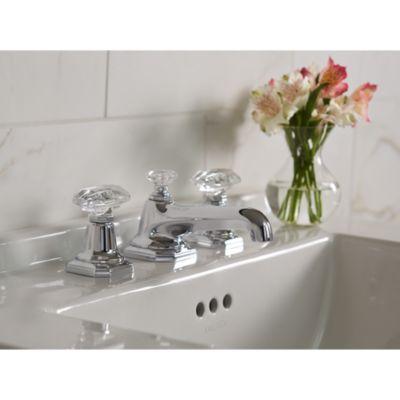 Bathroom Faucets With Crystal Handles kallista: for loftmichael s smith basin faucet set, clear
