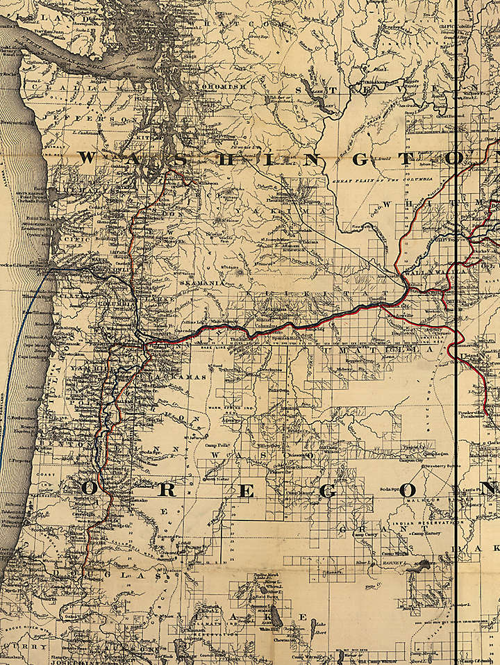 Vintage Northwest Map