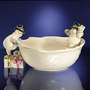 LENOX Your Home: Candy Dishes - Snowman Bowl