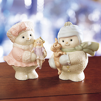 Pretty & Playful Snowman Figurine
