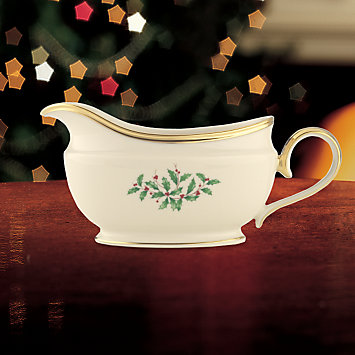 LENOX Made in America  - Holiday Sauce Boat