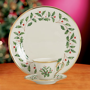 Holiday 3-piece Dinnerware Place Setting by Lenox
