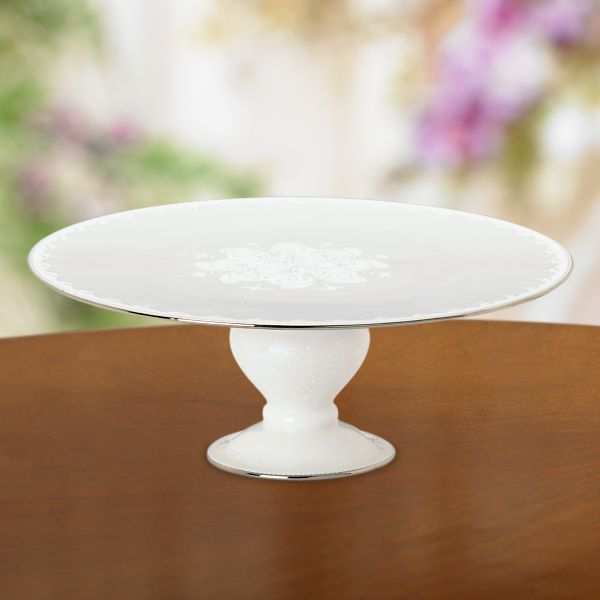 Opal Innocence Footed Cake Plate by Lenox