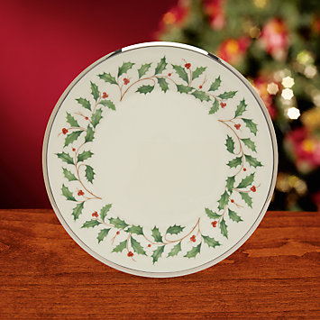 LENOX Made in America  - Holiday Platinum Salad Plate