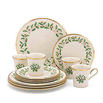 LENOX Made in America  - Holiday 12-piece Dinnerware Set