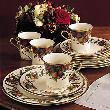 Holiday Tartan 12-piece Dinnerware Set by Lenox