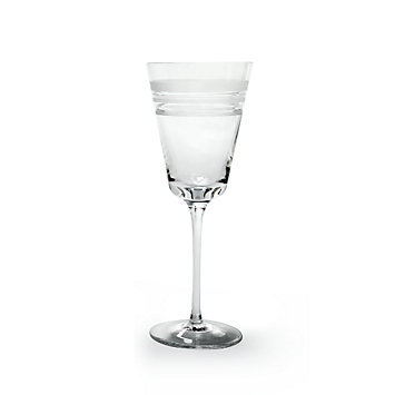 kate spade Library Stripe Crystal Wine Glass