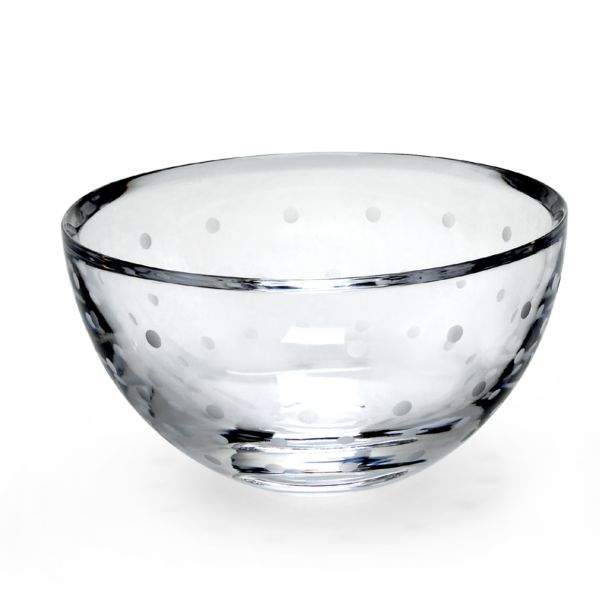 kate spade Larabee Dot Crystal Rose Bowl by Lenox