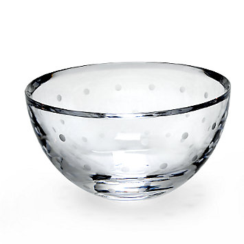 LENOX Crystal  - kate spade Larabee Dot Crystal Rose Bowl
