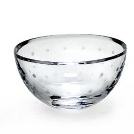 kate spade Larabee Dot Crystal Rose Bowl