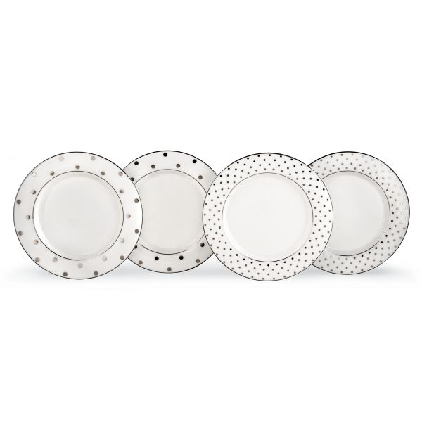 kate spade new york Larabee Road Platinum 4-piece Tidbit Tray Set by Lenox