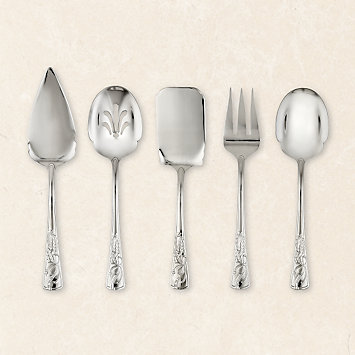 Holiday 5-piece Stainless Oversized Serving Set by Lenox
