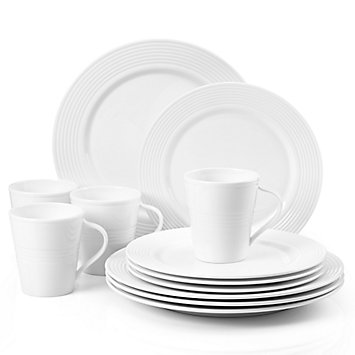 LENOX Made in America  - Tin Can Alley® Seven%XB0 12-piece Dinnerware Set