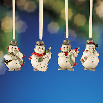 LENOX Ornaments: Overstock - Snowman 4-piece Mini Ornament Set