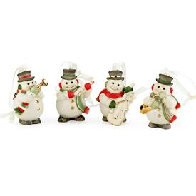 Snowman 4-piece Mini Ornament Set