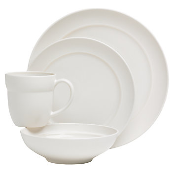 Tera White 4-piece Place Setting