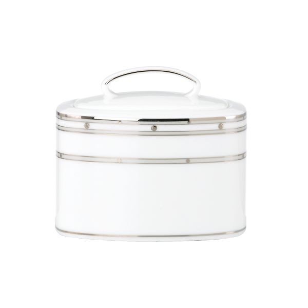 kate spade new york Pebble Point Sugar Bowl by Lenox